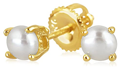 188b909d0 Image Unavailable. Image not available for. Color: Tiny Freshwater Pearl Screw  back Stud earrings 14k Gold Plated Sterling Silver 3mm
