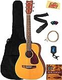 Yamaha JR1 3/4-Scale Acoustic Guitar Bundle with Gig Bag, Tuner, Strings, String Winder, Picks, and Austin Bazaar…