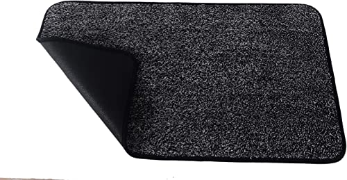 Indoor 34 x 24 Doormat Super Absorbs Mud Door mat Durable Non Slip No Odor TPR Back Eco-Friendly Safe Materials Easy Clean Cotton Entrance Rug Pet Mat Machine 34 x 24 , Dark Grey