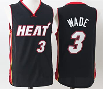 Para hombre Miami Heat Dwyane Wade # 3 Baloncesto Jersey, L, Negro