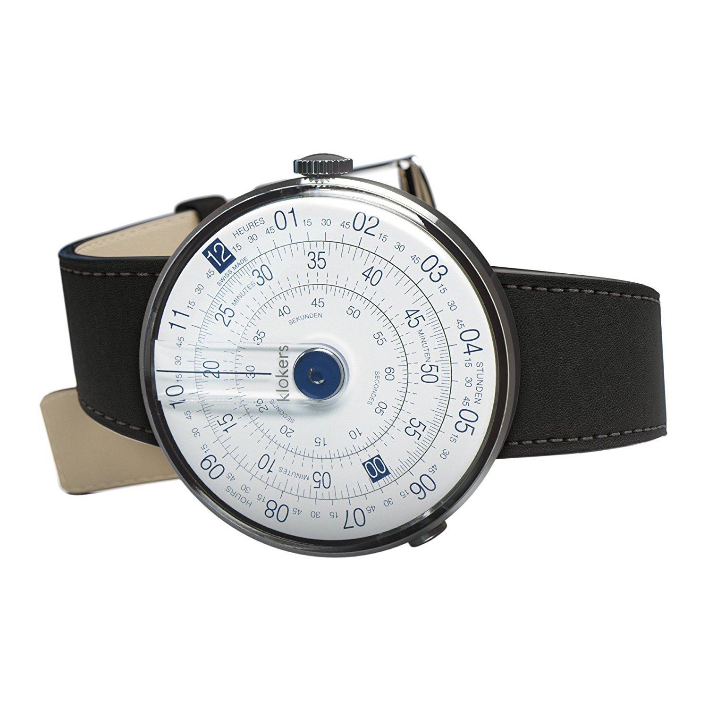 [クロッカーズ]Klokers ダイヤルポイントカラー ブルー 腕時計 KLOK-01-D4と腕時計用ベルト マットブラックMC2セット【正規輸入品】 B072LFZBWT