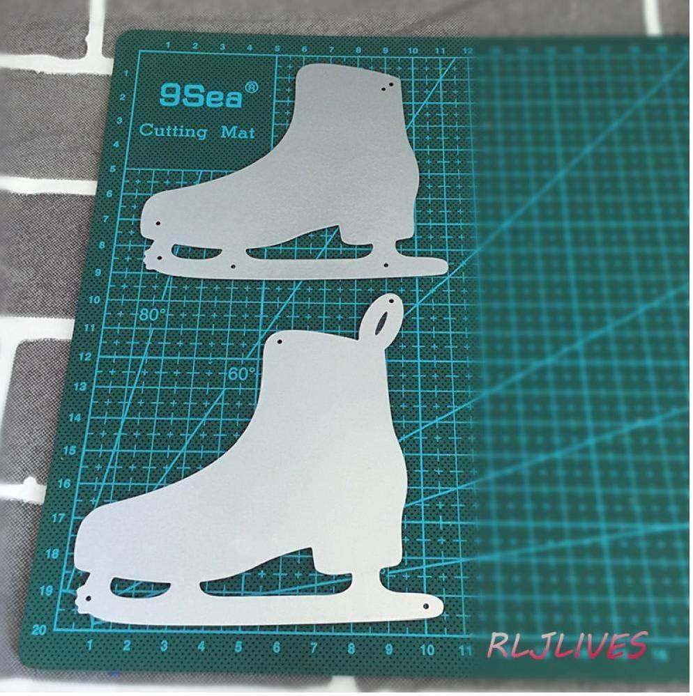 Patin /à Glace Shaker Popcorn Bo/îte M/étal Dies pochoirs Coupe Scrapbooking Stamp Album Photo d/écoratif gaufrer du Papier