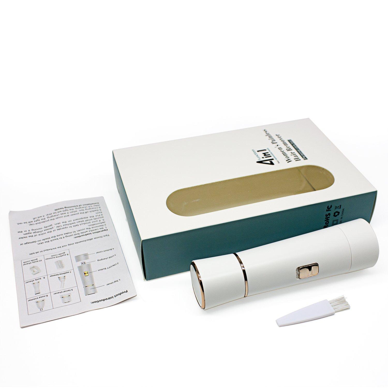 Depiladora Eléctrica Mujer HUOU Afeitadora Femenina 4 en 1 Equipo USB Recargable para Recortador Instrumentos para depilación facial Bikini Axila Brazo ...