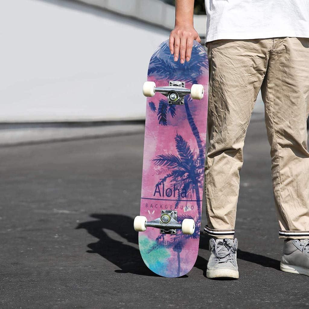Soolike Skateboard Bambini Junior Ragazze dei Ragazzi Giovani,principiante,Professionisti,Completo Skateboard 81cm Professionale Skateboard in Legno dAcero Fun Board Freddo personalit/à