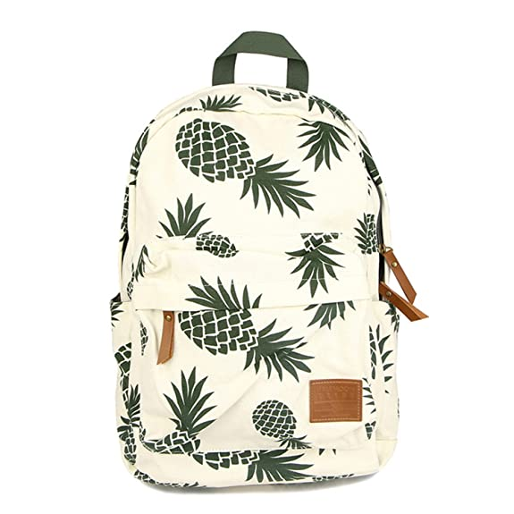 Amazon.com: bahu New Designed Backpack Pineapple Printing School Bags For Teenager Girls Casual Bookbags Travel Bag Laptop Rucksack Mochila As Pic: Shoes