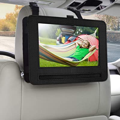 "Car Headrest Mount Holder for 7.5"" Portable DVD Player with Swivel and Flip Screen and Fits Other 7-7.5"" Swivel Screen Portable DVD Player: Electronics"