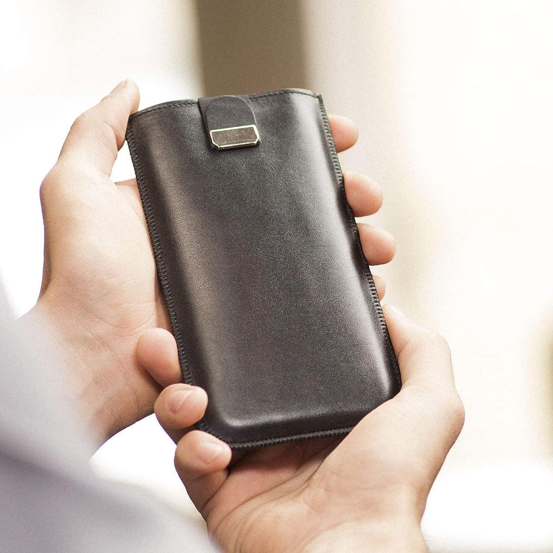 Housse en cuir pour Samsung Galaxy S10+ étui noir cover coque case pour pochette en mousse