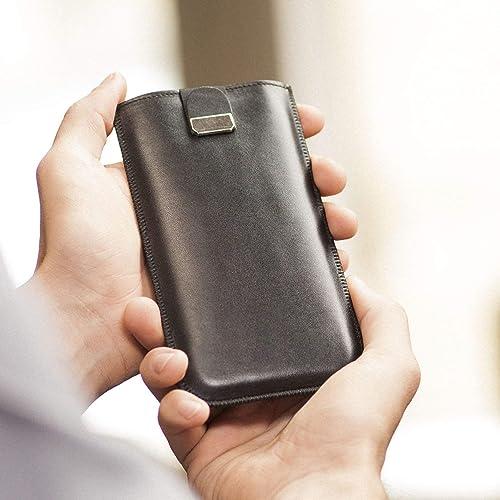 Negro Funda De Cuero Para Samsung Galaxy S10+ Caja, Bolsa Case, Cover Estuche de manga: Amazon.es: Handmade