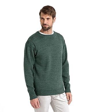 WoolOvers Guernsey-Pullover aus reiner Wolle für Herren Kiltimagh, L