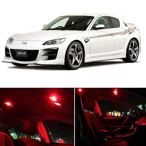 Amazon.com: Mazda RX-8 2004-2011 RED Premium LED Interior Lights ...