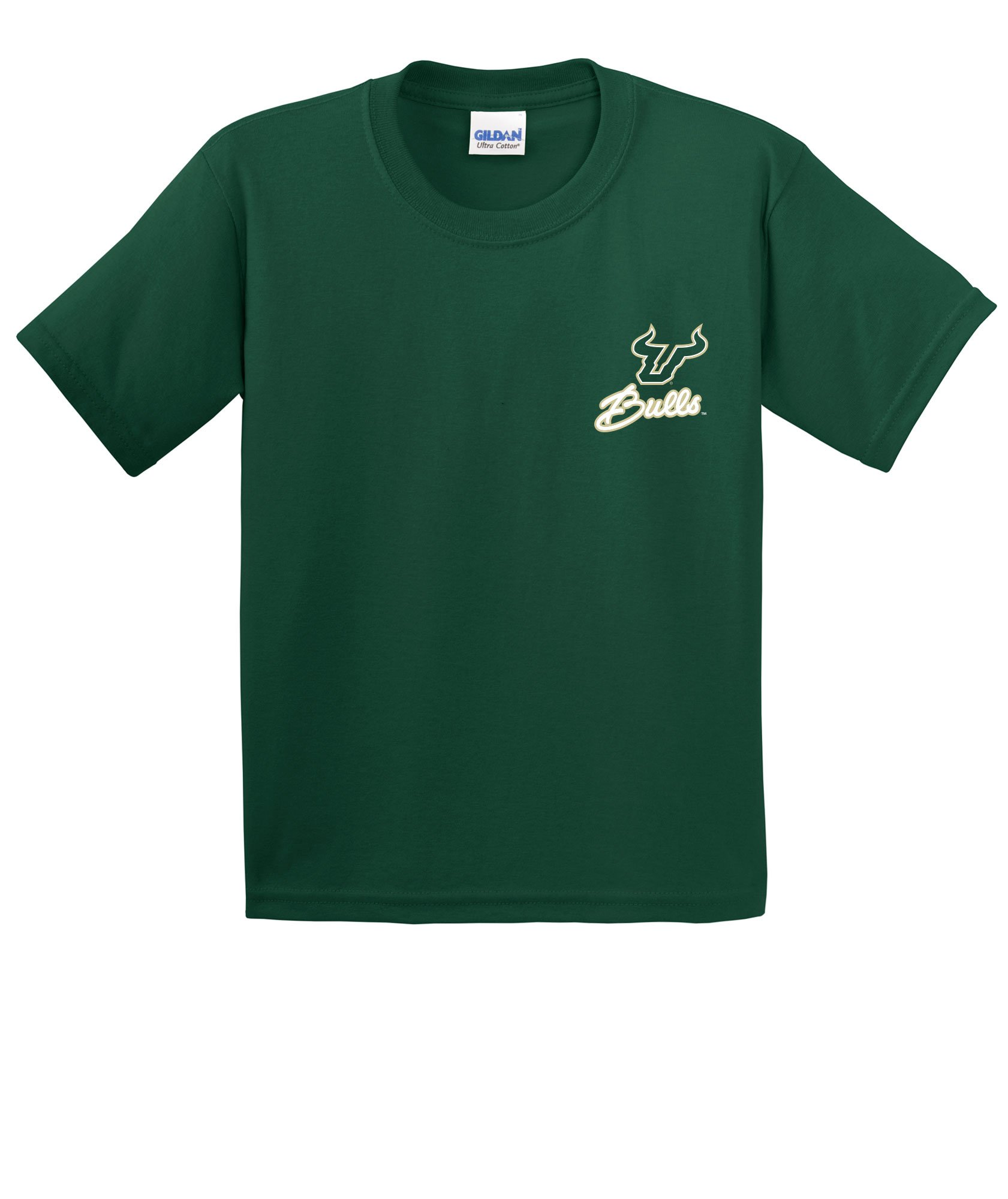 Image One NCAA Cheer Loud Youth Short Sleeve Cotton T-Shirt, Youth Medium,ForestGreen