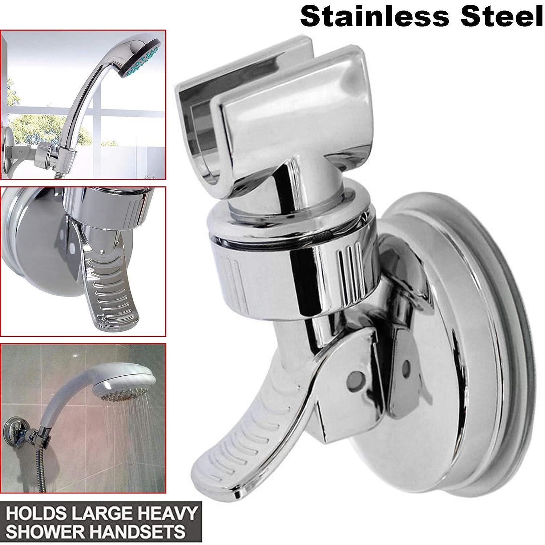 Universal Shower Handset Holder Bathroom Wall Mounted Adjustable Suction Bracket