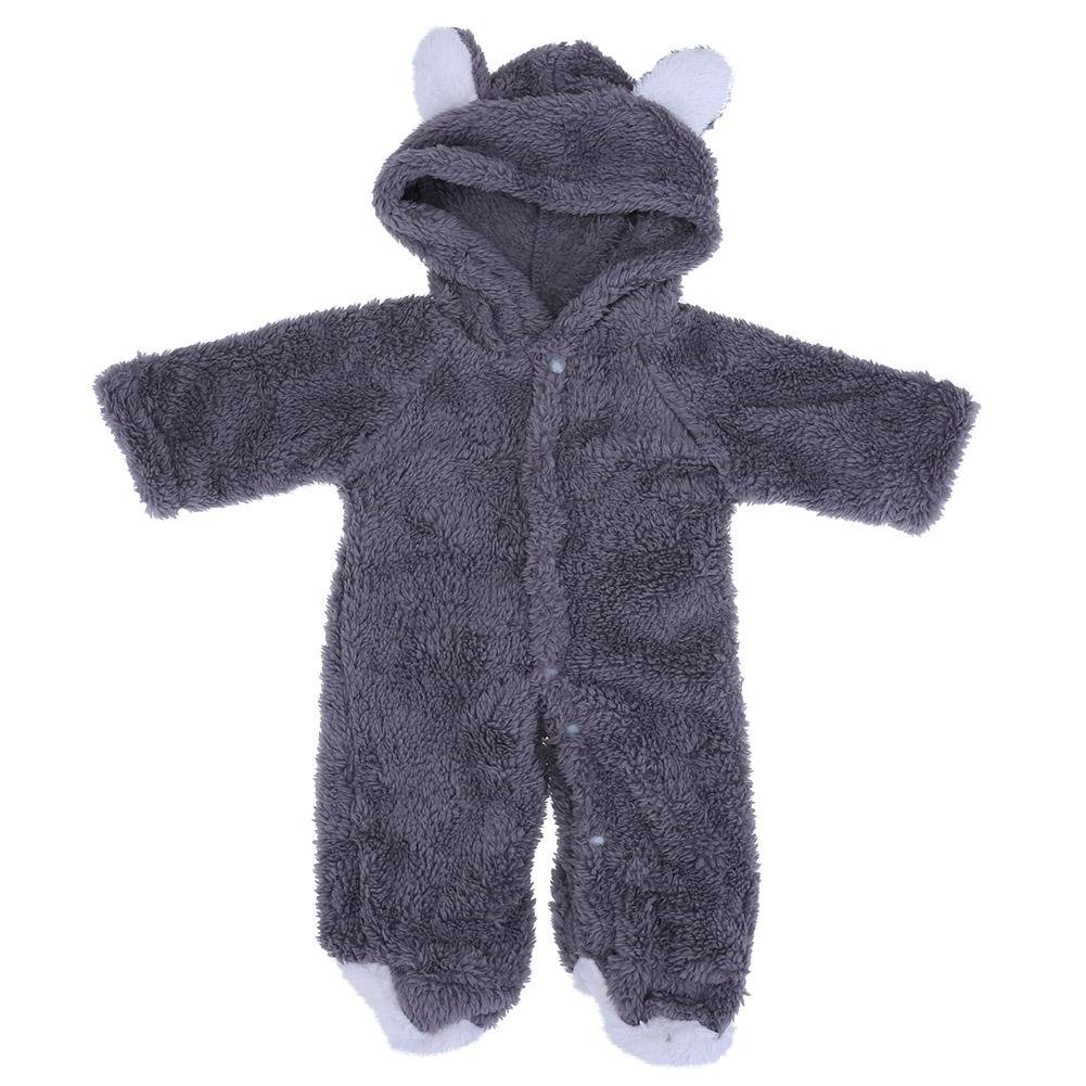 chinatera Baby Boys Girls Winter Clothes Ear Pattern Hooded Romper Jumpsuit Toddler One-Piece Crawl Clothing