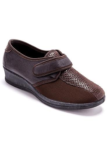 Pediconfort - Derbies extensible à scratch, spécial pieds sensibles   Amazon.fr  Chaussures et Sacs 1675cb12b0b6