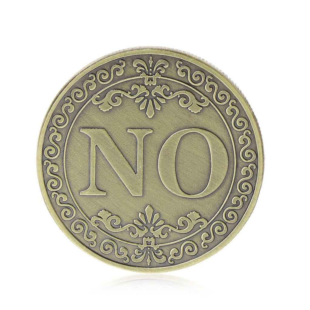 Commemorative Coin YES NO Letters Ornaments Collections Arts Gifts Souvenirs
