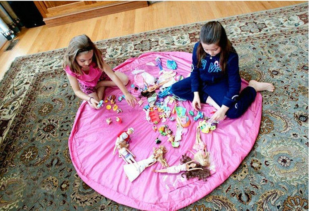 Tappetino per Giochi, Sacco di Raccolta per Giocattolo Lego Duplo 150CM Nylon Blu Rosa Febbya
