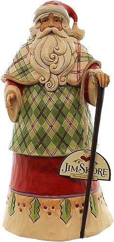 Jim Shore Heartwood Creek Highland Holidays Santa in Robe Christmas Figurine
