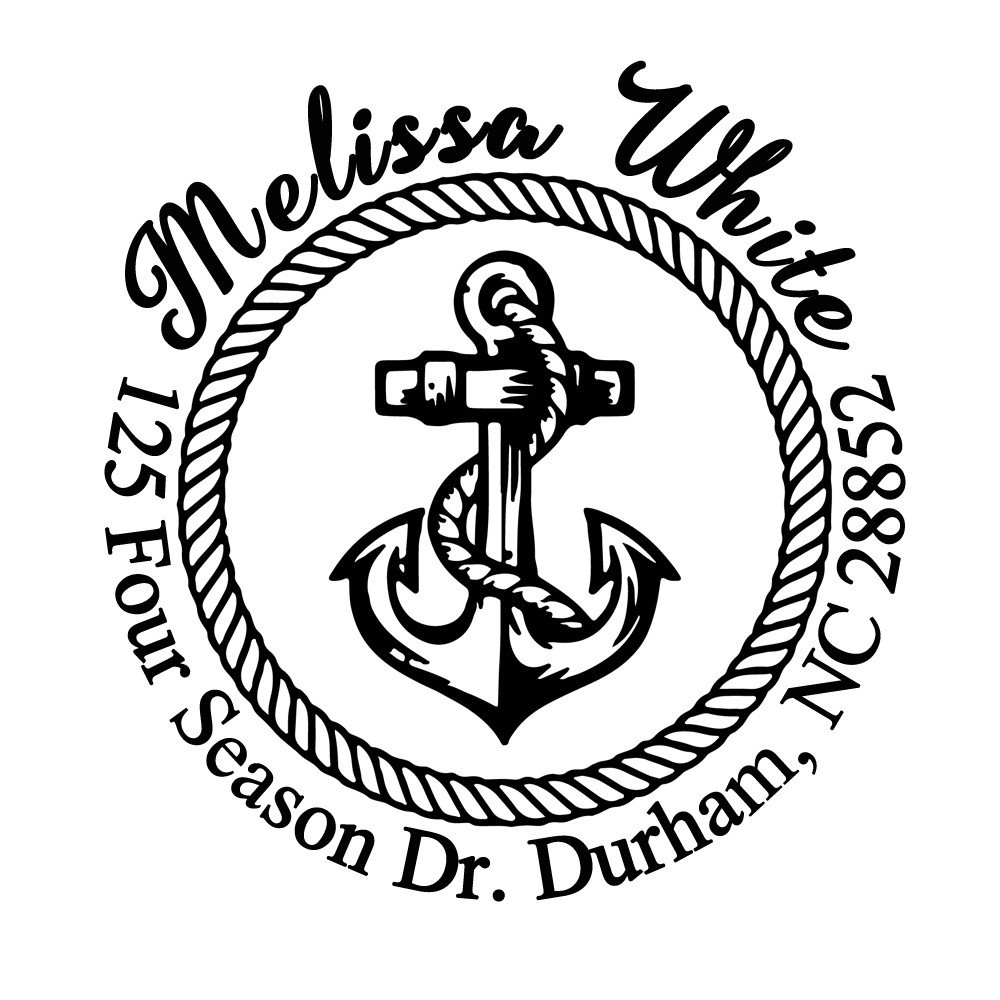 Ship Nautical Sailor Anchor Return Address Stamp Wedding Christmas Gift Monogram Stamper by StampsbyJoyce