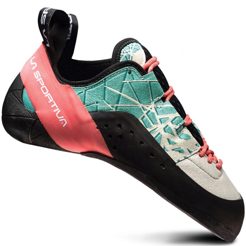 La Sportiva Kataki Climbing Shoe - Women's B01N6E04TA 40 M EU|Mint / Coral