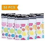 "Mailer Plus #000 4x8"" 50pcs Colorful Dot Poly Bubble Mailers Padded Envelopes Boutique Custom Bags"