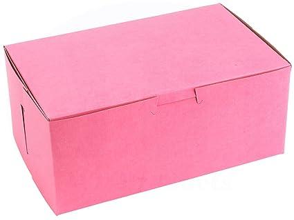 MT Products - Caja de cartón con revestimiento de arcilla para panadería, color rosa, 20,3 x 12,7 x 8,9 cm: Amazon.es: Industria, empresas y ciencia