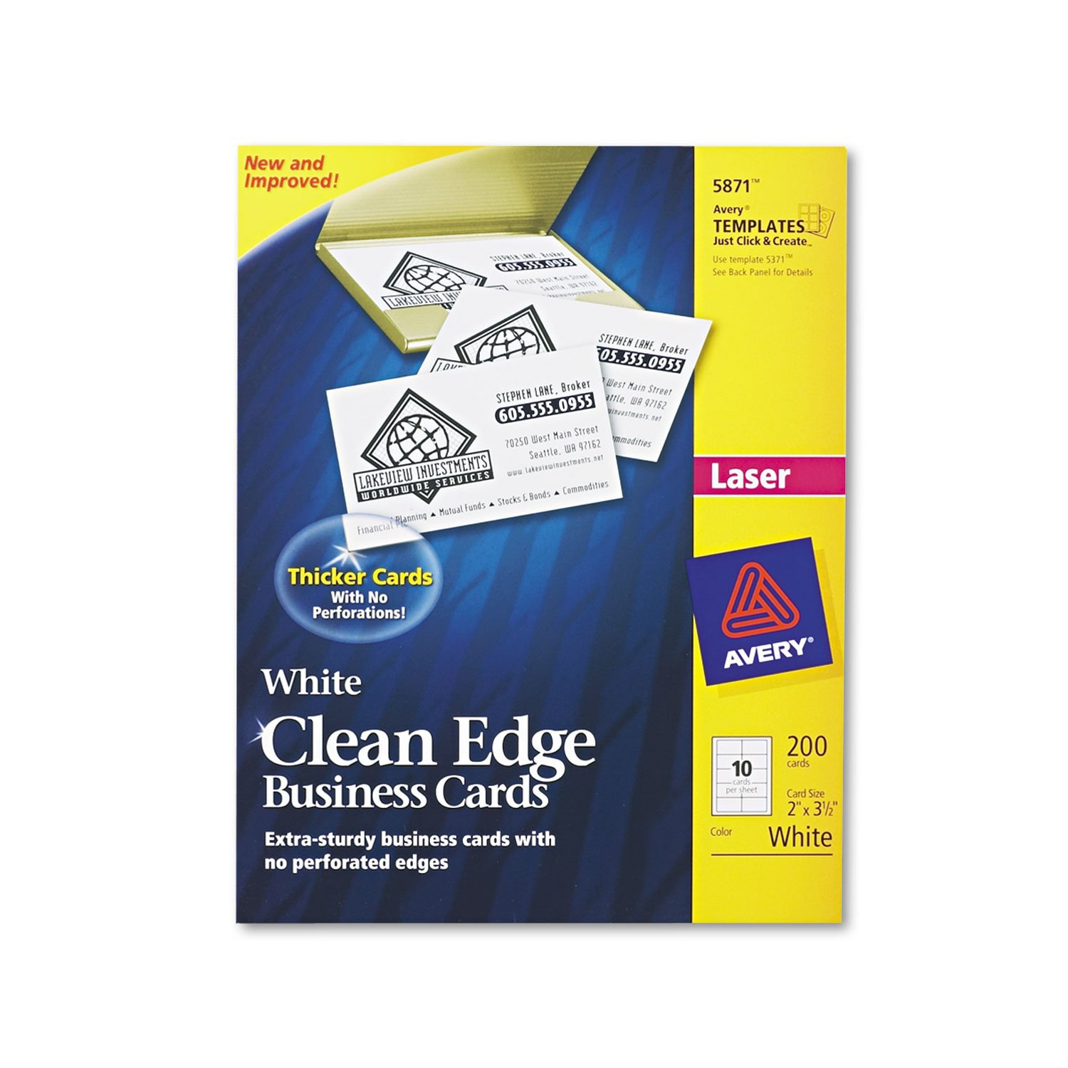 Amazon ave5871 avery clean edge business card office amazon ave5871 avery clean edge business card office products alramifo Image collections