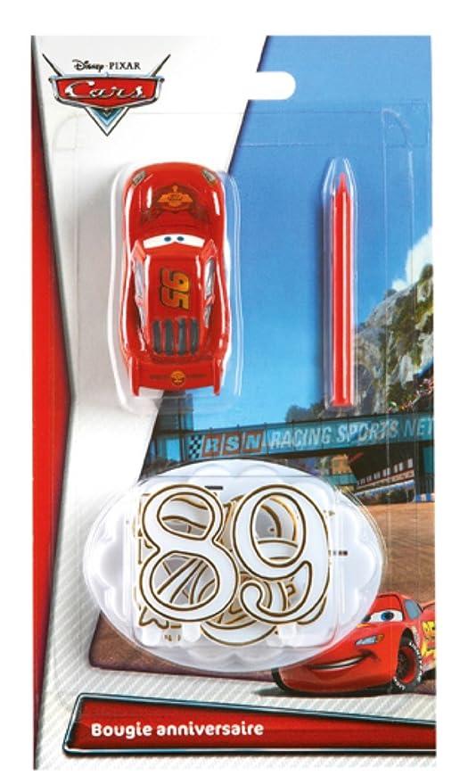 DEVINEAU 1018811 Vela de cumpleaños, Figura de Cars, número ...