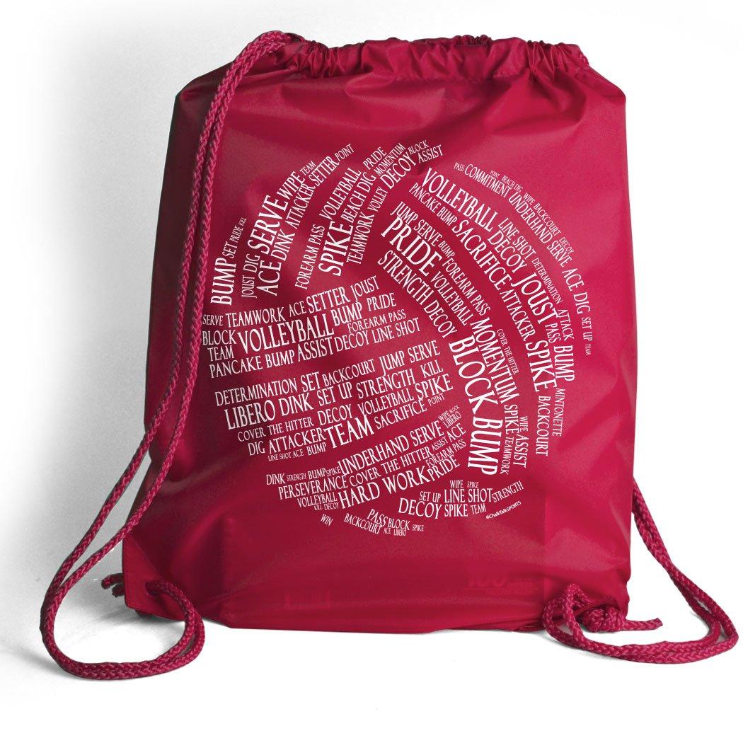 バレーボールWords Cinch Sack  バレーボールバッグby ChalkTalkSPORTS  複数の色 B019ZPDAJS ピンク ピンク