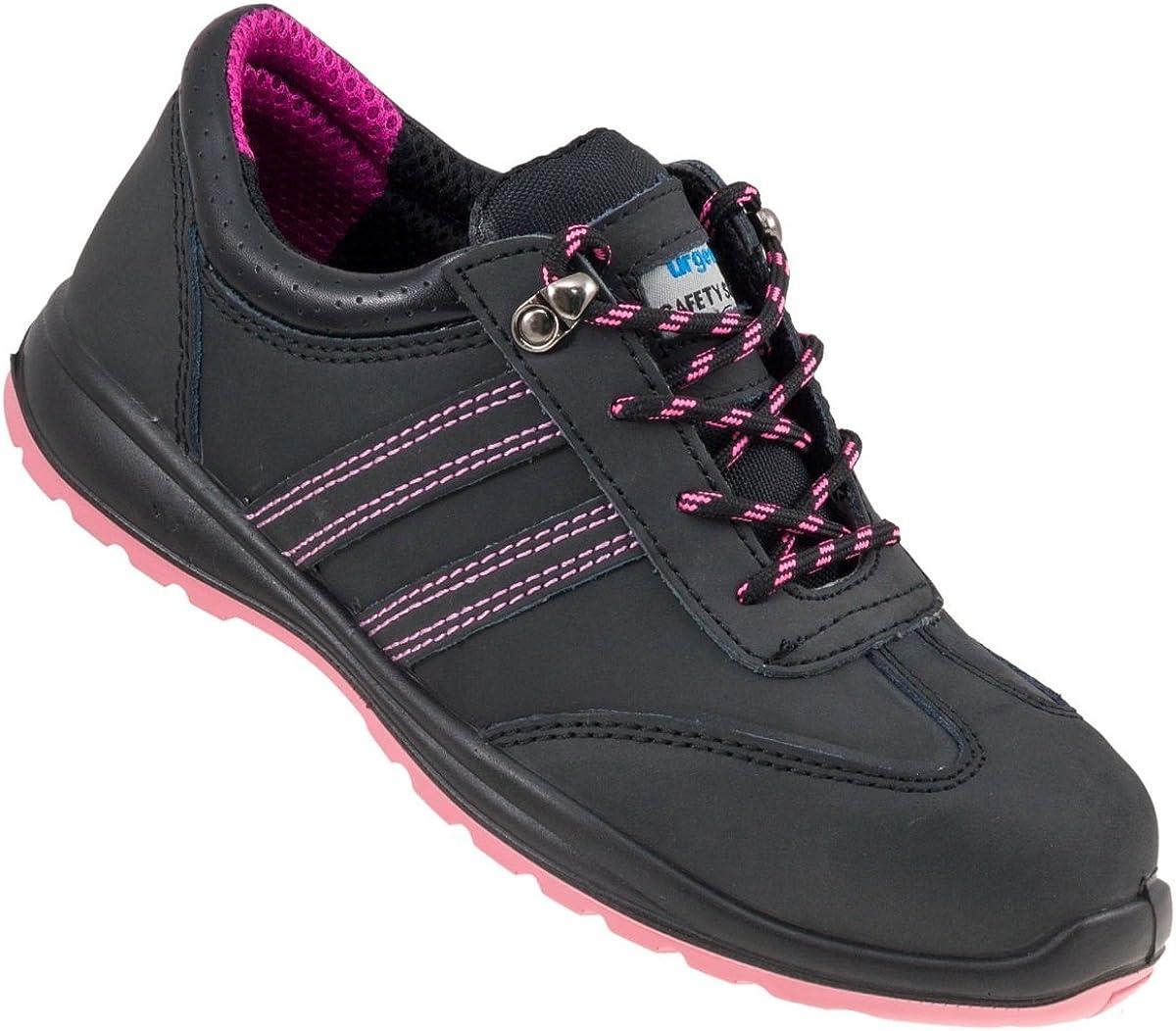 modelo 214 S1 EN ISO 20345 Urgent Zapatos de trabajo de seguridad para mujer