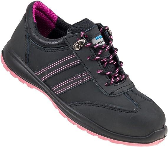 Ladies Women Steel Toe Work Shoes