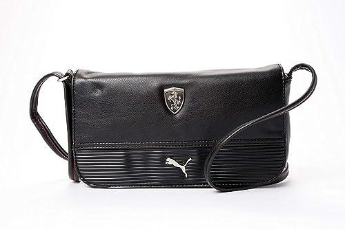 0a89d3d4c88 Puma Ferrari Lifestyle Women s Messenger Bag Small Satchel (Black ...