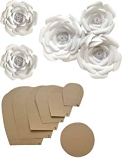Amazon Com Paper Flower Template Kit Pattern Diy Make Your Own