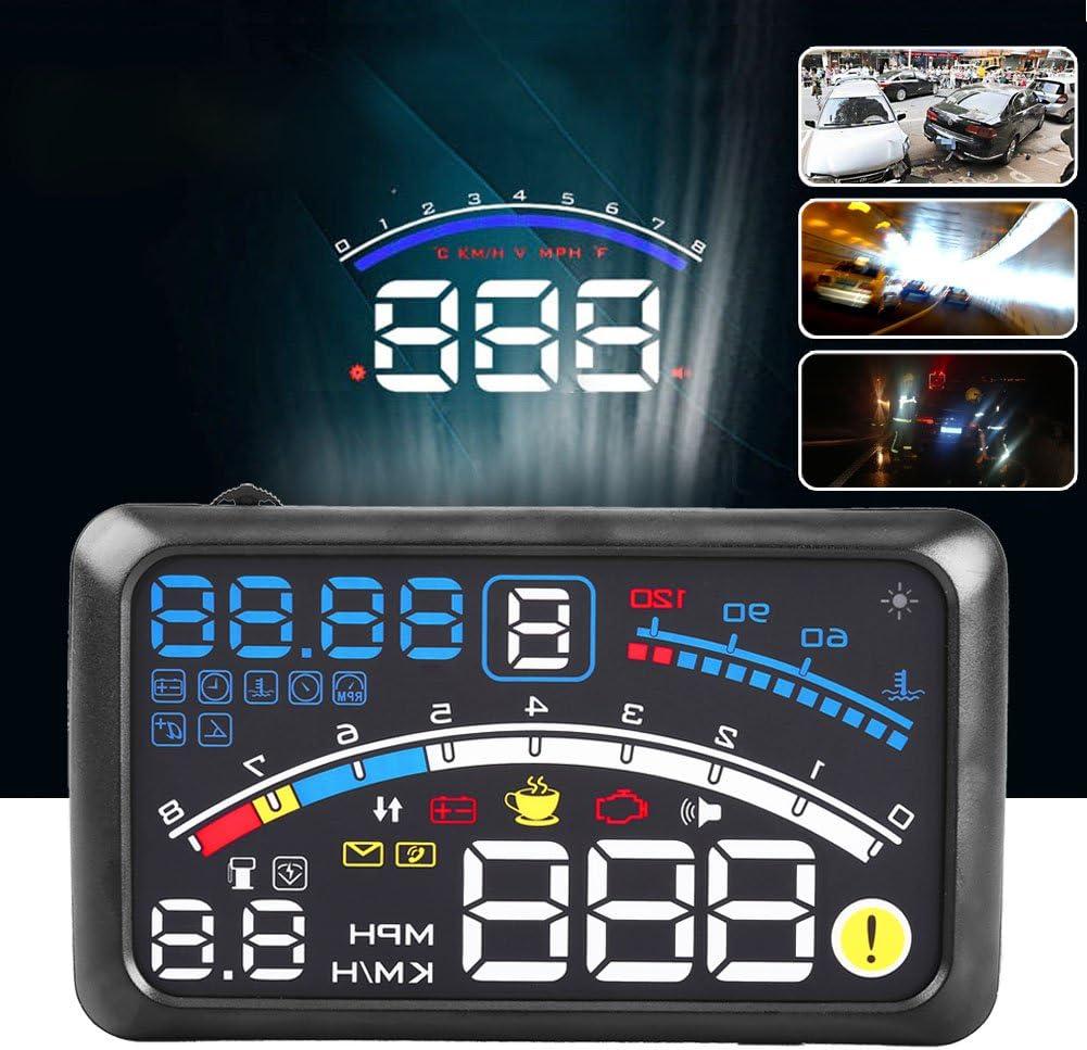 5.5 HD OBD2 Car HUD Head Up Speed Display Over Speed Warning Plug /& Play HUD short for Head Up Display