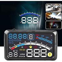 "5.5"" HD OBD2 Car HUD Head Up Speed Display Over Speed Warning Plug & Play HUD short for Head Up Display"
