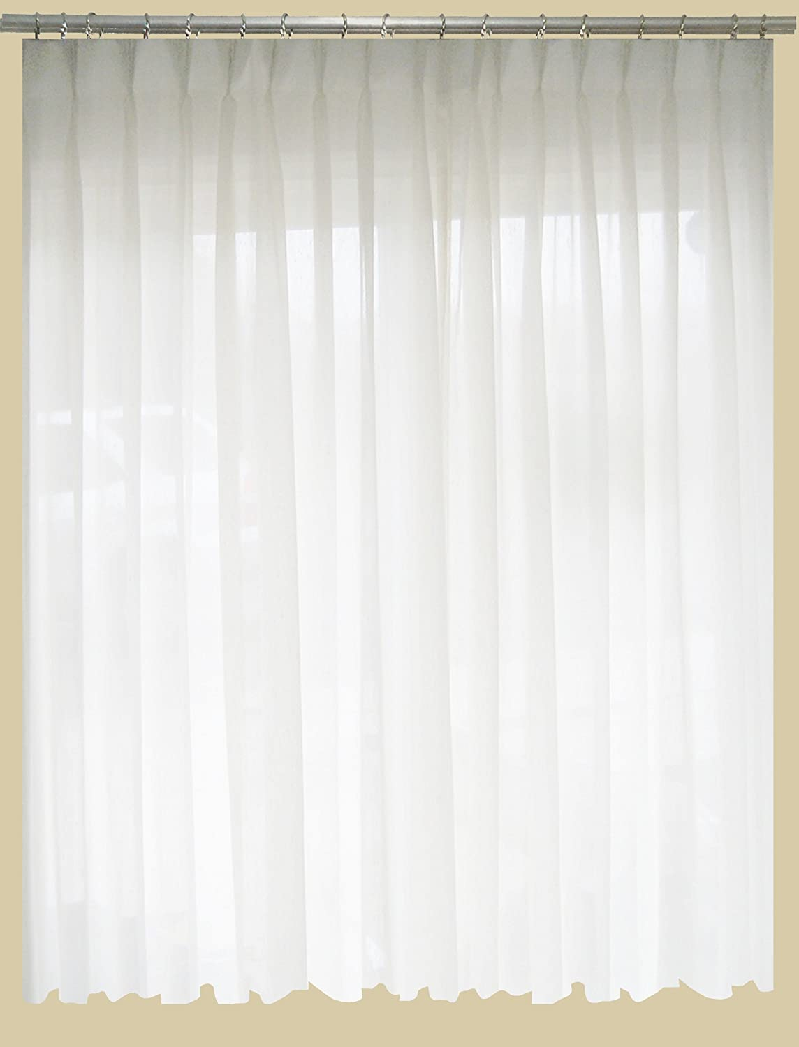 pinch pleat sheer curtains. Amazon.com: SAARIA Sheer Curtain Semi Transparent Drapes Pinch Pleated Backdrop 5 Ft W X 7 H: Home \u0026 Kitchen Pleat Curtains B