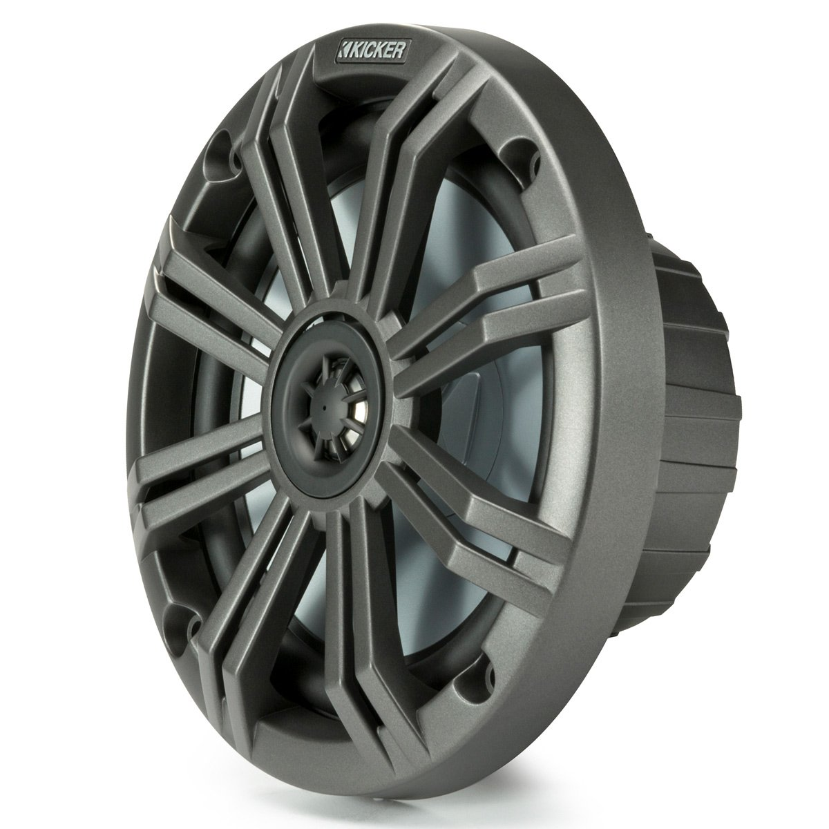 Kicker KM65 6.5-Inch (165mm) Marine Coaxial Speakers with 3/4-Inch (20mm) Tweeters, 4-Ohm, Charcoal and White Grilles by Kicker (Image #3)