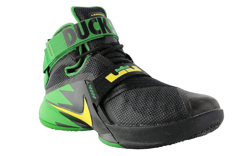 competitive price 8cbf8 22d23 Nike Mens Zoom Soldier 9 IX PRM Lebron Oregon Ducks Black Green 749490-073  (10)