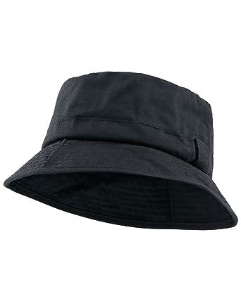 Amazon.com  Cotton Traders Mens Womens Waterproof Waxed Hat S M Black   Clothing fb8d6cb2fc5