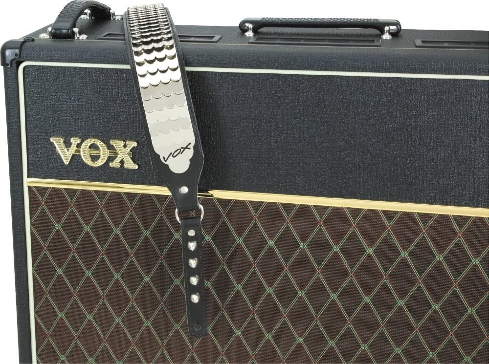 VOX PYTHON STRAP Guitar Bass Adjustable Leather Armored Chrome John Lennon