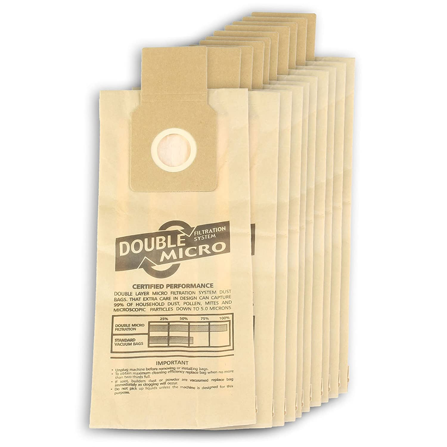 First4spares Bags for Panasonic Vacuums (10 Pack)