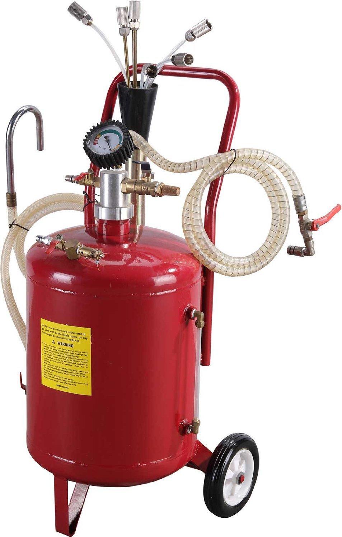 6 galones portátil neumática Extractor de aceite del tanque de vacío de drenaje Drenaje aspirar el aire: Amazon.es: Coche y moto