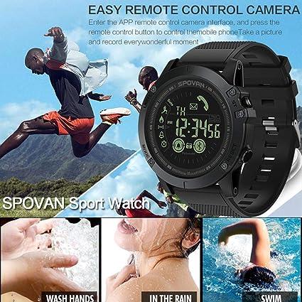 Reloj de pulsera digital inteligente para correr, medidor de frecuencia cardíaca, 50 m,