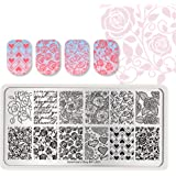Born Pretty Nail Art Stamping Plates Valentine's Day Theme Manicure Image Plates