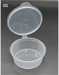 Plastic Hinged Lids Palette Sauce Cup Pigment Paint Box Food Containers