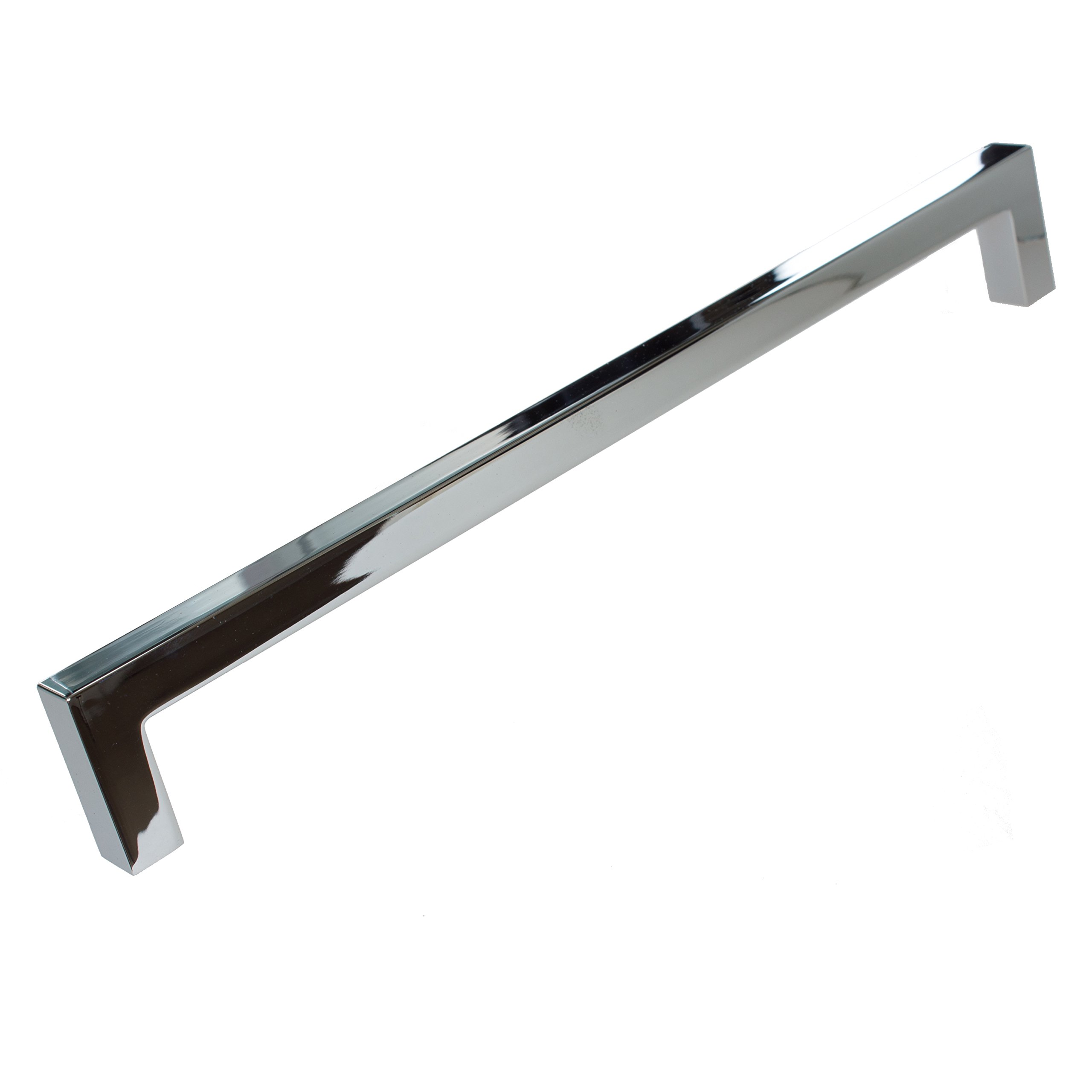 GlideRite Hardware 21683-224-PC-50 Solid Square Slim Cabinet Bar Pulls, 50 Pack, 8.75'', Polished Chrome