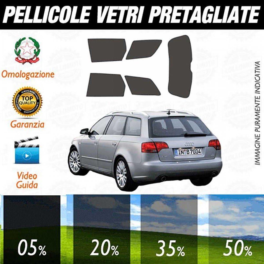 05/% Compatibile con Audi A4 Avant dal 2009 al 2015 Pellicole Oscuramento Vetri Auto Pre Tagliate a Misura