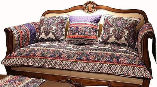 Blancho Bedding 1 Pieza de Estilo Vintage Sofá de Algodón Manta ...