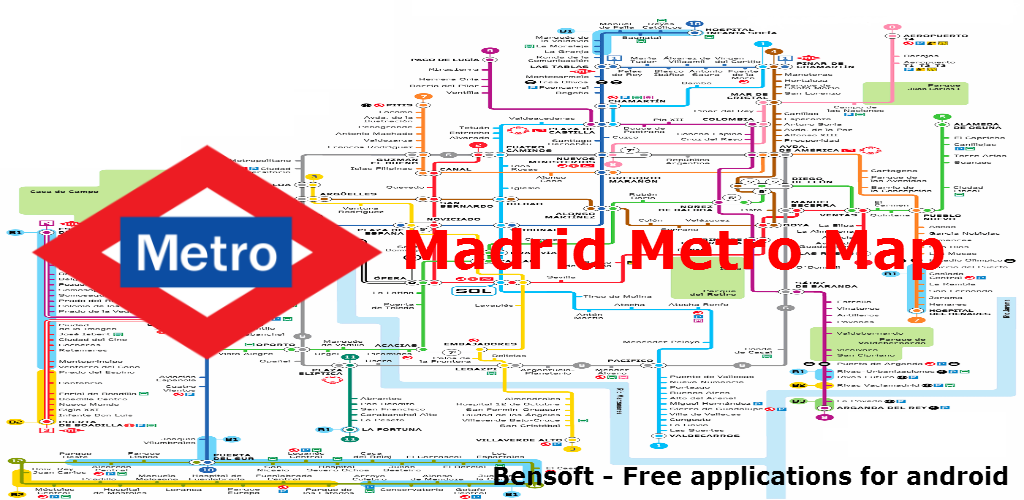 Amazon Com Madrid Metro Map Appstore For Android