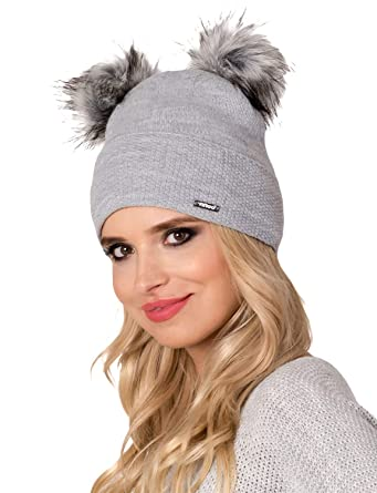 15cfbb039911d fil loo Gorro Con Pompones Para Mujeres CD-17-37