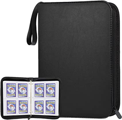 Holds Up to 400 POKONBOY Baseball Card Binder Sleeves for Trading Cards Baseball Card Sleeves Card Holder Protectors Set for Football Cards and Sports Cards